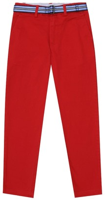 Polo Ralph Lauren Kids Belted stretch-cotton pants