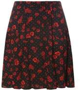 Dorothy Perkins Womens Red Poppy Skater Skirt- Multi