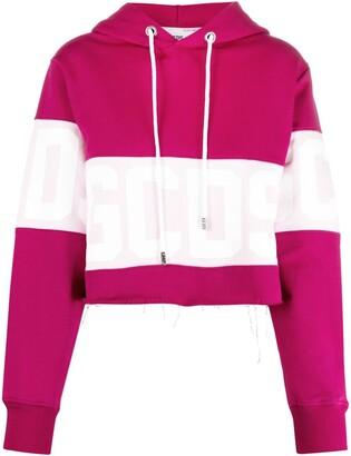 GCDS Colour-Block Cotton Hoodie