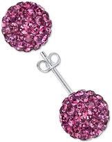 Unwritten Pink Pavé Stud Earrings in Sterling Silver