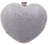 Ainemay Bonjanvye Heart Shape Diamond Ladies Trendy Evening Cluthes