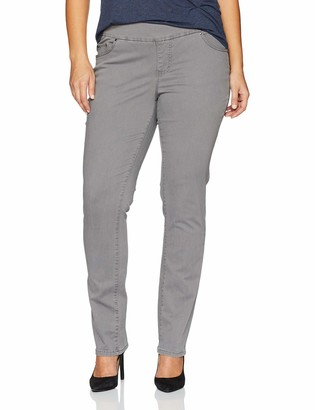 Jag Jeans Women's Plus Size Peri Straight Pull on Pant in Divine Twill