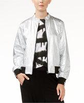 Rachel Roy Metallic Bomber Jacket, Only at Macy's