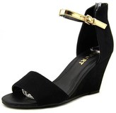 Report Skarlett Women Open Toe Synthetic Black Wedge Heel.