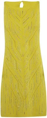 Ermanno Scervino Rib Knit Embellished Dress