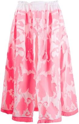Yuliya Magdych Endless print full skirt