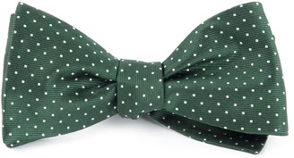 Tie Bar Mini Dots Hunter Green Bow Tie