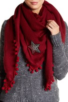 David & Young Pom Triangle Star Scarf