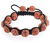 Bling Jewelry Shamballa Inspi Bracelet Crystal Beads 12mm Alloy