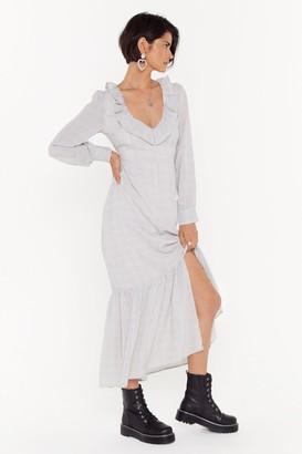 Nasty Gal Womens Spot Tonight Ruffle Maxi Dress - White