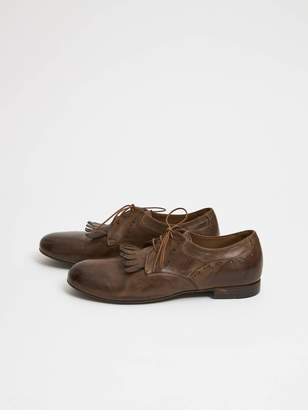 Paul Silence - Brown Leather Classic Italian Laces Tongue Shoe. AG25 - 36 - Brown/Leather