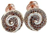 Ice 1 3/4 CT TW Champagne and White Diamond 14K Rose Gold Stud Earrings