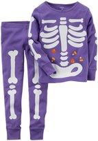Carter's 2Piece PJ Set (Baby) - Bones-12 Months