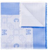 MCM logo print scarf