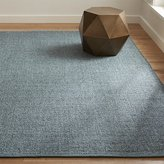 Crate & Barrel Jasper Teal Wool-Blend Rug