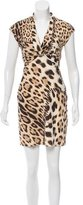 Roberto Cavalli Leopard Print Mini Dress