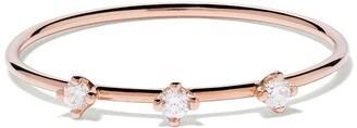 VANRYCKE 18kt rose gold three diamond Stardust ring