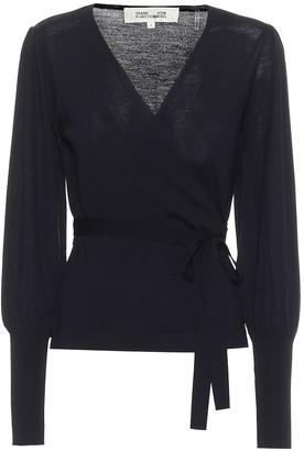 Diane von Furstenberg Adrielle wool wrap sweater