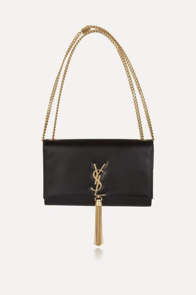 Saint Laurent Monogramme Leather Shoulder Bag - Black