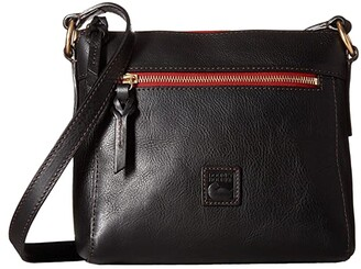 Dooney & Bourke Florentine Classic Allison Crossbody (Black/Self Trim) Cross Body Handbags