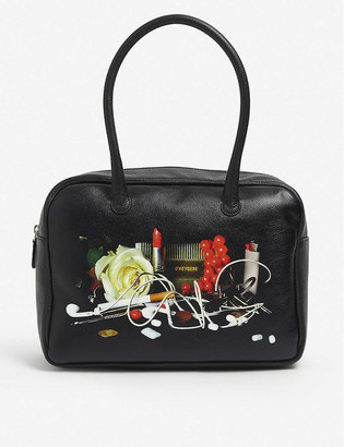 D'heygere Still Life leather top handle bag