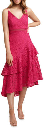 Forever New August Lace Ruffle Midi Dress