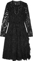 Simone Rocha Chenille-embroidered tulle dress