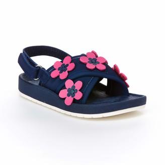 Carter's Girls' Felicia Flower Embellished Sandal with Adjustable Strap