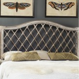Beachcrest Home Bungalo Open-Frame Headboard Size: Full, Color: Antique Gray