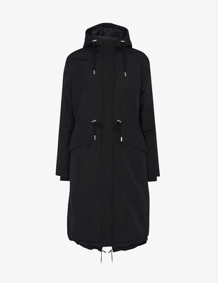 Whistles Coby cotton and recycled-polyester parka coat