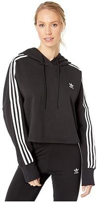adidas Cropped Hoodie (Black) Women's Sweatshirt
