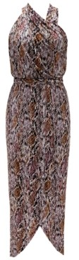 INC International Concepts Inc Snake-Print Halter Maxi Dress, Created for Macy's