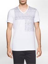 Calvin Klein Slim Fit Heathered Block V-Neck T-Shirt