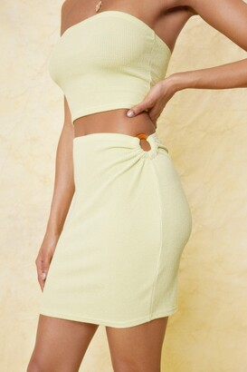Nasty Gal Womens O Ring Cut Out High Waisted Mini Skirt - Green - 8