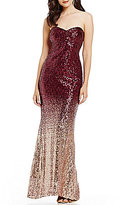 Jump Ombre Sequin Long Dress