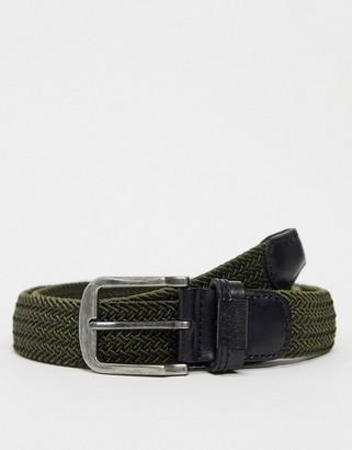 ONLY & SONS woven belt in khaki