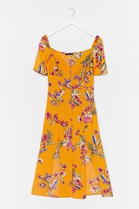 Nasty Gal Womens Feels Like Summer Floral Midi Dress - Blue - 8