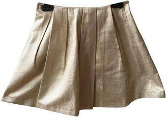 Tara Jarmon Gold Cotton Skirt for Women