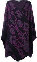 Marcelo Burlon County of Milan 'Anecon' poncho - women - Polyamide/Mohair/Wool - XS