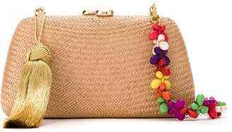 Serpui Marie straw shoulder bag
