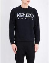 Kenzo Logo-embroidered Cotton Sweatshirt