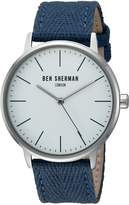 Ben Sherman Men's WB009UA Portobello Social Analog Display Quartz Blue Watch