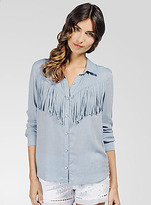 Ella Moss Jackson Fringe Shirt