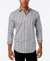 Alfani Men's Big and Tall Textured Check Long-Sleeve Shirt, Classic Fit