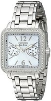 "Citizen Women's FD1040-52D Eco-Drive ""Silhouette"" Stainless Steel Swarovski Crystal-Accented Watch"