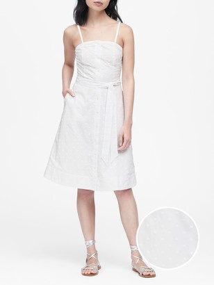 Banana Republic Embroidered Button-Down Dress