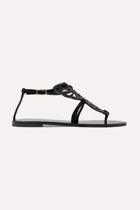 Sophia Webster Butterfly Glittered Suede Sandals - Black