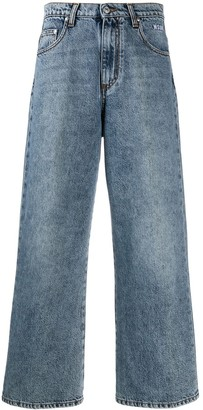 MSGM cropped distressed jeans