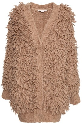 Stella McCartney Fluffy Knit Alpaca Blend Cardigan