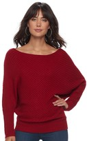 JLO by Jennifer Lopez Women's Ribbed Dolman Sweater